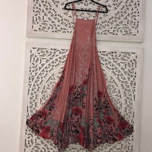 FREE People Floral Intimates Long Casual Dress XS